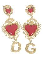 Dolce & Gabbana Heart Logo Earrings - Gold
