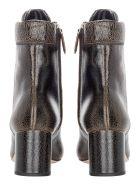 Miu Miu Leather Cracked Laced Boots - EBANO