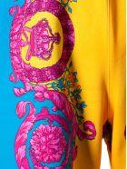 Versace Baroque Print Shorts - Arancio/blu