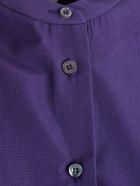 Aspesi Mandarin Collar Shirt Dress - Viola