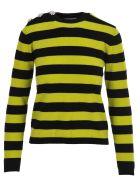 Ganni Stripe Cashmere Jumper - BLACK + LIME