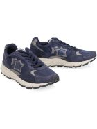 Atlantic Stars Mira Techno-fabric And Leather Sneakers - blue