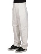 GCDS White Cotton Trousers - White