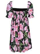 Dolce & Gabbana Dolce&gabbana Short Dress Peonie - BLACK + FLORAL PRINT