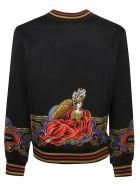Dolce & Gabbana Trimmed Logo Sweatshirt - black
