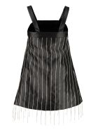 Giuseppe di Morabito Rhinestone Mini Dress - black