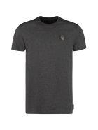 Philipp Plein Patch Detail Cotton T-shirt - grey