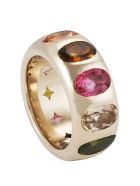 Lo Spazio Jewelry Lo Spazio Multi Colored Tourmaline Ring - Multicolor