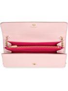 Salvatore Ferragamo Gancini Leather Clutch - Pink