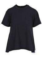 Sacai Tshirt Zip Pleates - NAVY