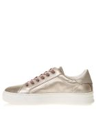 Crime london Platinum Sneakers In Metallic Leather - Platium