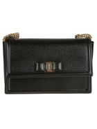 Salvatore Ferragamo Bow Detail Shoulder Bag - Black