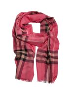 Burberry Vintage Check Scarf - Rosa scuro multicolor