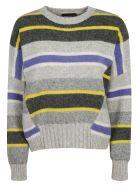 SportMax Tricot Pull Jersey Sweater - Grey
