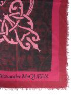 Alexander McQueen Mixed Wool Scarf - BORDEAUX