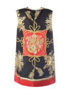 Gucci Flowers And Tassels Tunic Top - Red Black