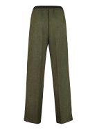 Plan C Elasticated Waist Trousers - green