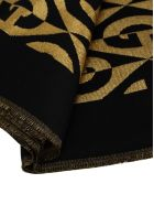 Gucci G Rhombus Lamé Wool Jacquard Stole - BLACK + GOLD