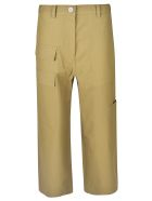Sofie d'Hoore Cropped Length Cargo Trousers - Light Green
