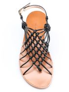 Stuart Weitzman Knotted Strappy Flat Sandals - Black