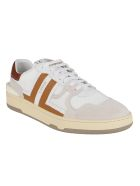 Lanvin White And Brown Leather Clay Sneakers - Brown