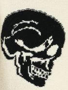 Alexander McQueen Crew Neck Pullover Skull - Ivory Black