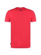 Philipp Plein Logo Print Cotton T-shirt - red