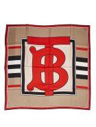 Burberry Bt Print Foulard - Beige