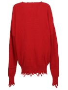 Ben Taverniti Unravel Project Unravel Ribbed Oversized Dress - Red