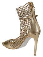 René Caovilla Galaxia Sandals - MEKONG MAB/GOLD
