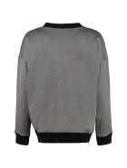 Plan C Cotton Crew-neck Sweatshirt - grey
