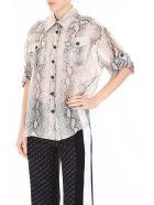 Zimmermann Corsage Safari Shirt - PYTHON|Beige