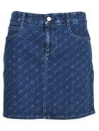 Stella McCartney Stella Mccartney Logo Print Denim Skirt - BLUE  MONOGRAMME