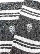 Alexander McQueen Socks Stripe Skull - Black/silver