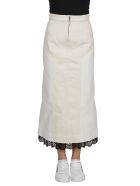 Alexander McQueen Lace Trim Skirt - White