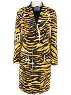 Prada Linea Rossa Tiger New Denim Coat With Patch - TOPAZIO|Nero