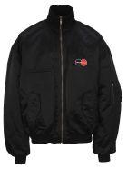 Balenciaga Logo Patch Bomber Jacket - BLACK