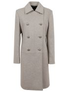 Givenchy Fitted Coat - Stone Grey