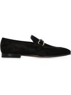 Salvatore Ferragamo Suede Loafers - black