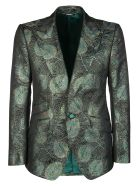 Dolce & Gabbana Green Silk-blend Blazer - Multicolor