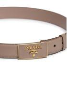 Prada Logo Buckle Belt - Cipria