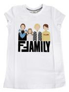 Fendi Kids Family Print Short Sleeve T-shirt