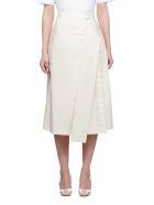 SportMax High Waisted Midi Skirt - White