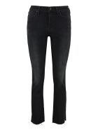 Mother The Rascal Ankle Snippet 5-pocket Jeans - black