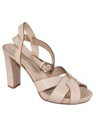 Roberto del Carlo High Block Heel Sandals - Sand