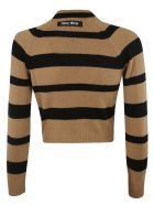 Miu Miu Striped Sweater - Cammello