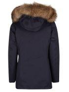 Woolrich Navy Blue Padded Parka Jacket - Blue