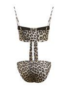Ganni Leopard Print Bikini - Maculato
