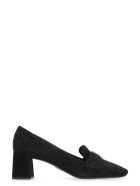 Prada Suede Loafer Pump - black