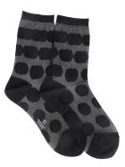 Y's Patterned Socks - Black